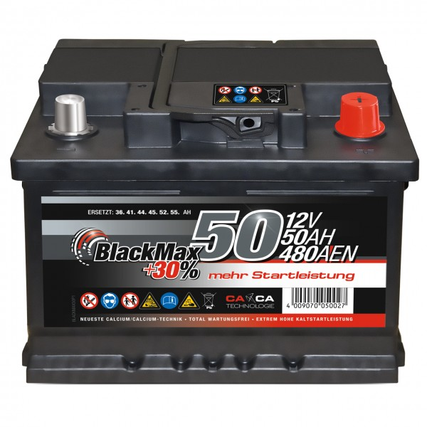 BlackMax +30 Edition Starterbatterie 12V 50Ah 450A
