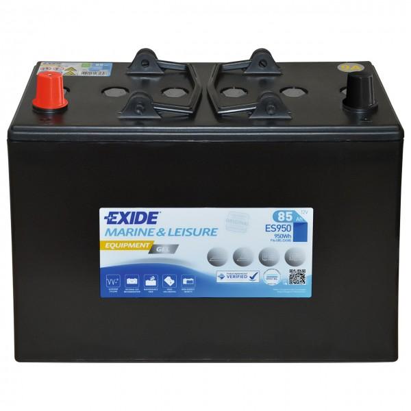 Exide 12V 85Ah ES950 Wohnmobil Solar Gelbatterie