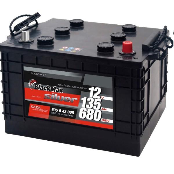 BlackMax Nato-Block 12V 135Ah Starterbatterie Unimog 63542