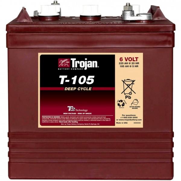 Trojan T-105 Traktionsbatterie 6V 225Ah DeepCycle