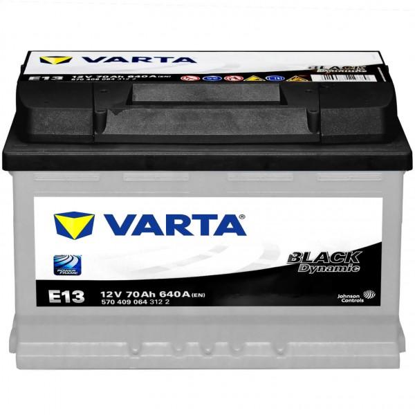 Autobatterie Varta E13 12V 70Ah 640A