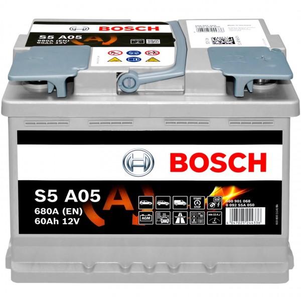 Bosch S5A05 AGM 12V 60Ah 680A 0092S5A050