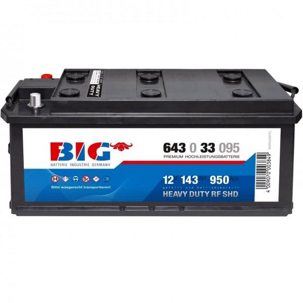BIG Premium 12V 143Ah 950A LKW Batterie DIN 64333