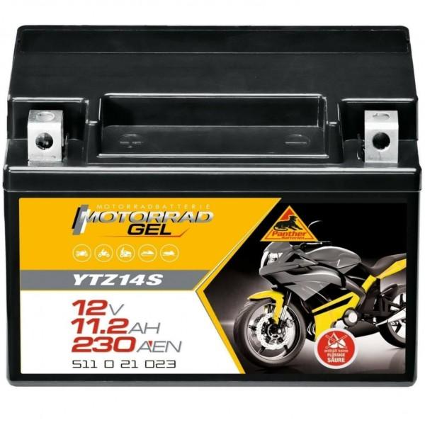 Panther YTZ14S Motorradbatterie GEL 12V 11,5Ah 51121