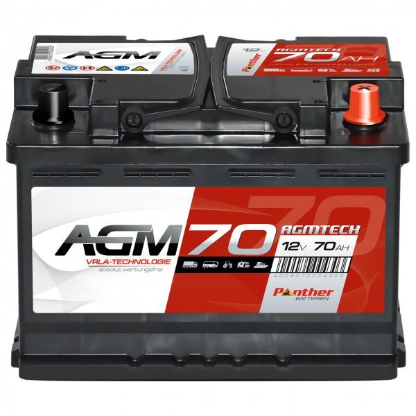 Panther AGM70 12V 70Ah VRLA Versorgerbatterie