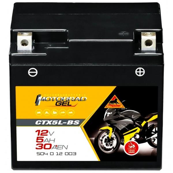 Panther YTX5L-BS Motorrad GEL 12V 5Ah 50412