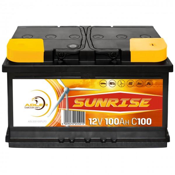 Adler Sunrise Solar 12V 100Ah Versorgungsbatterie