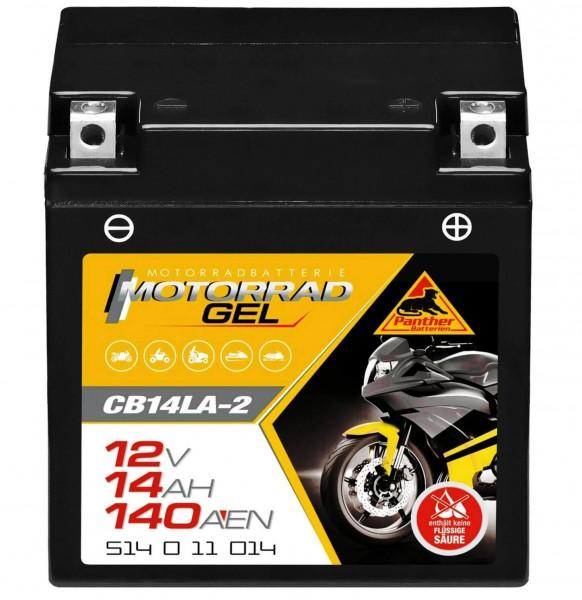 Panther YB14LA-2 Motorradbatterie GEL 12V 14Ah CB14LA-2