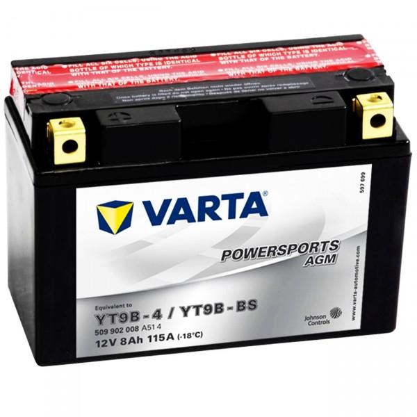 Varta YT9B-BS Powersports AGM 12V 9Ah YT9B-4