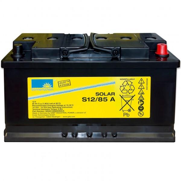 Sonnenschein Solar Dryfit 12V 85Ah S12/85 A Blei-Gel Batterie