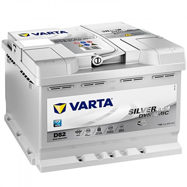 Varta D52 Silver Dynamic AGM 12V 60Ah 680A