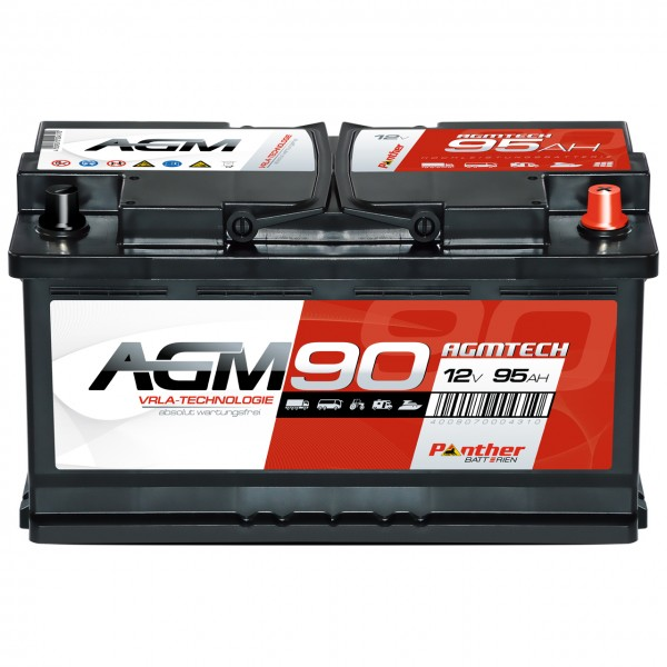 Panther AGM90 12V 90Ah 900A Versorgerbatterie