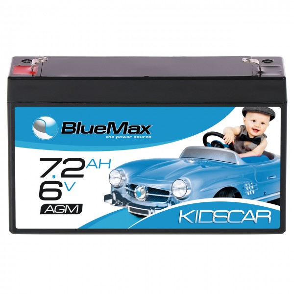 BLUEMAX KidsCar AGM Bleiakku 6V 7,2Ah Elektroauto