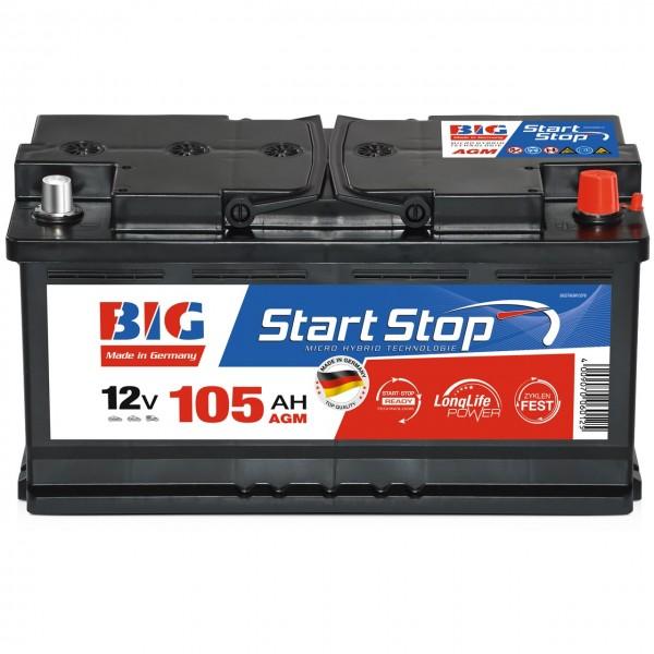 BIG Start-Stop Autobatterie AGM 12V 105Ah