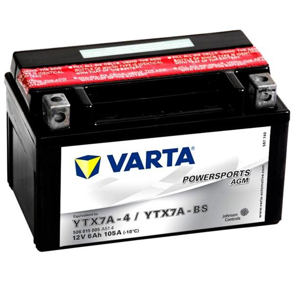 Varta YTX7A-4 Powersports AGM 12V 6Ah YTX7A-BS
