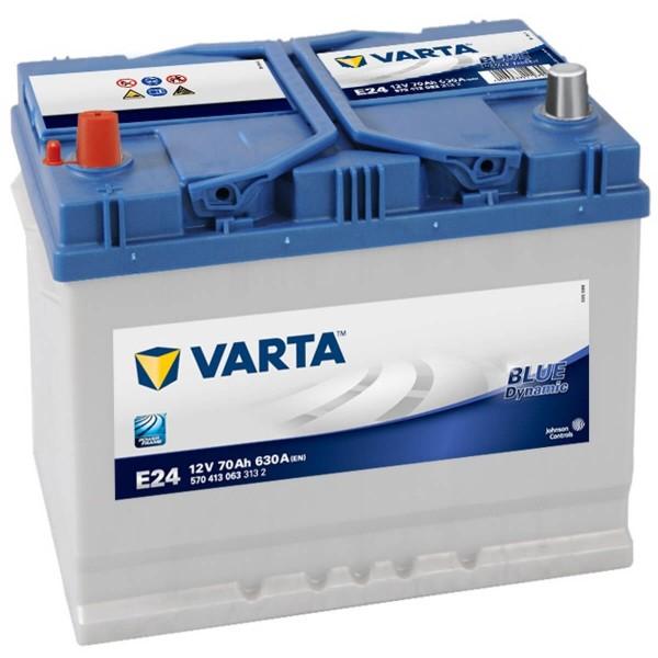 Varta E24 Autobatterie 12V 70Ah 630A