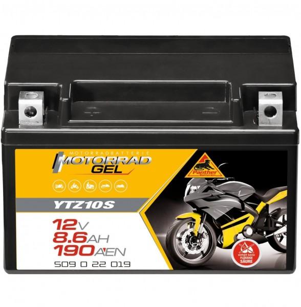 Panther YTZ10-S Motorradbatterie GEL 12V 8,6Ah YT10B-4 50922 YTZ10S-BS