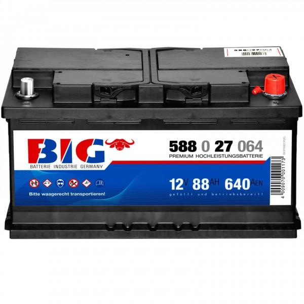 BIG Premium 12V 88Ah 640A DIN 58827