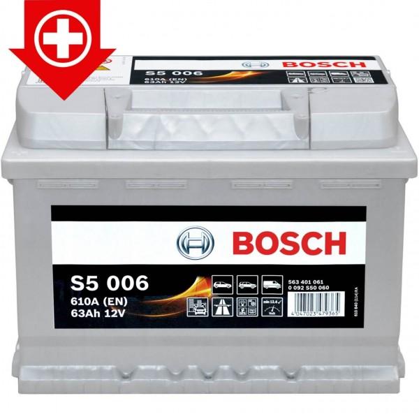 Autobatterie12V 63Ah Bosch 0092S50060