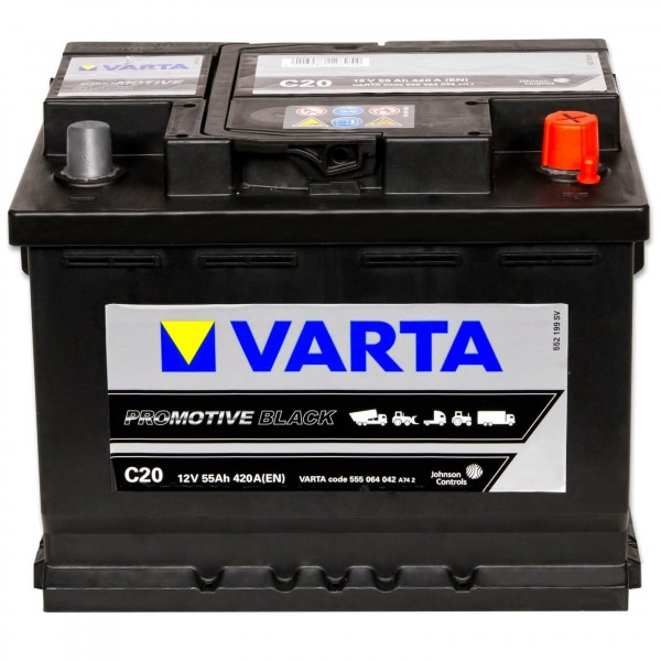 Varta C20 Promotive Black 12V 55Ah 420A