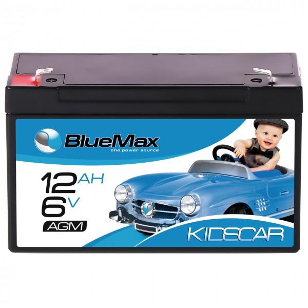 BLUEMAX KidsCar AGM Bleiakku 6V 12Ah Elektroauto