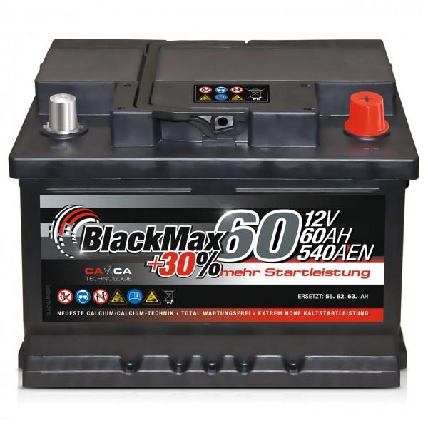 BlackMax +30 Edition Starterbatterie 12V 60Ah 540A