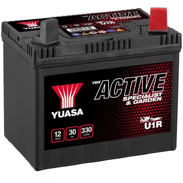 YUASA 12V 30Ah Batterie für Rasenmäher und Garten