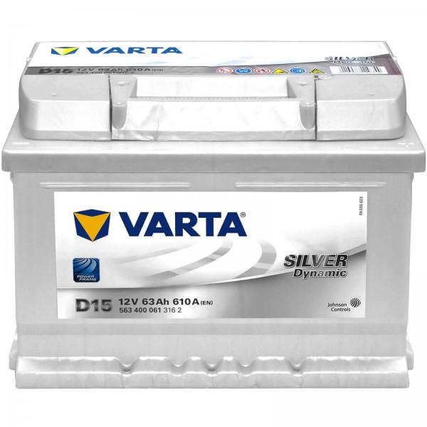 Varta D15 Starterbatterie 12V 63Ah 610A