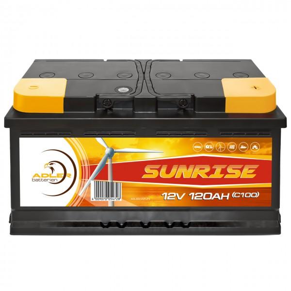 Adler Sunrise Solar 12V 120Ah Versorgungsbatterie
