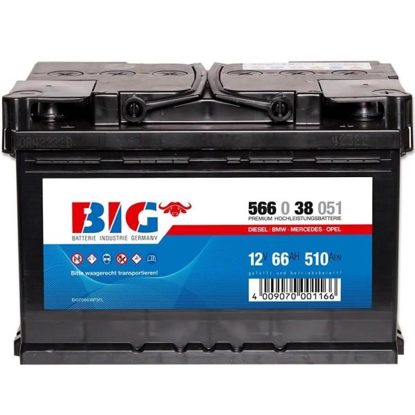 BIG Premium 12V 66Ah 510A DIN 56638