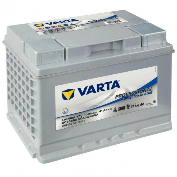 Varta LAD50A Professional DC AGM 12V 50Ah Versorgerbatterie