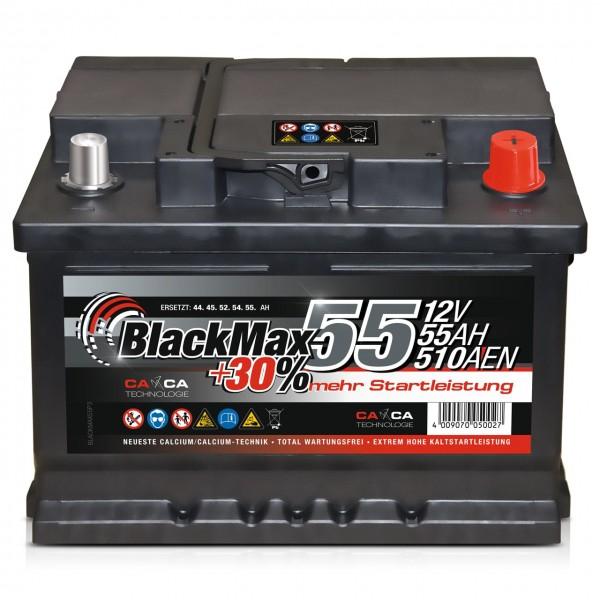 BlackMax +30 Edition Starterbatterie 12V 55Ah 510A