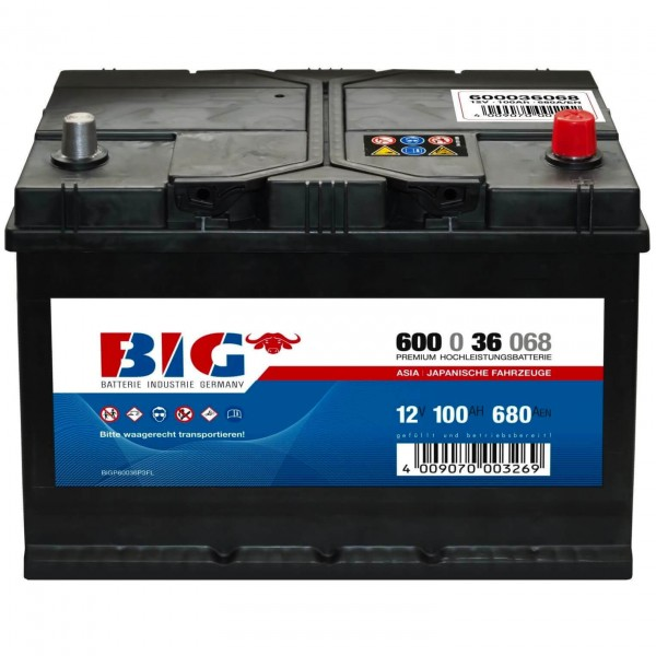 BIG Premium 12V 100Ah 680A DIN 60036