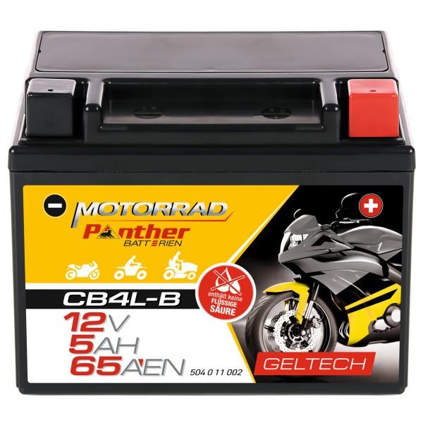 Panther YB4L-B Motorradbatterie GEL 12V 4Ah 50411