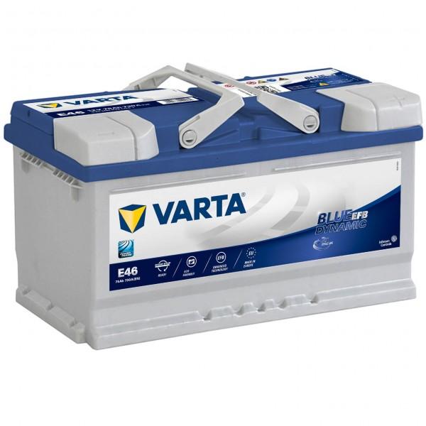 Varta E46 Starterbatterie Start Stop 12V 75Ah 730A