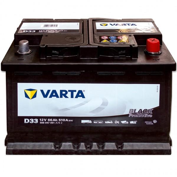 Varta D33 Promotive Black 12V 66Ah 510A