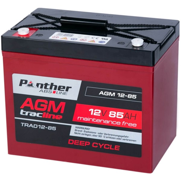 Panther tracline AGM 12V 85Ah DeepCycle