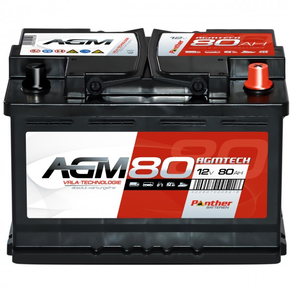 Panther AGM80 12V 80Ah VRLA Versorgerbatterie