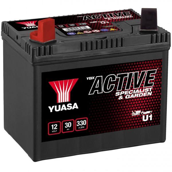 YUASA U1 Batterie 12V 30Ah für Rasenmäher und Garten