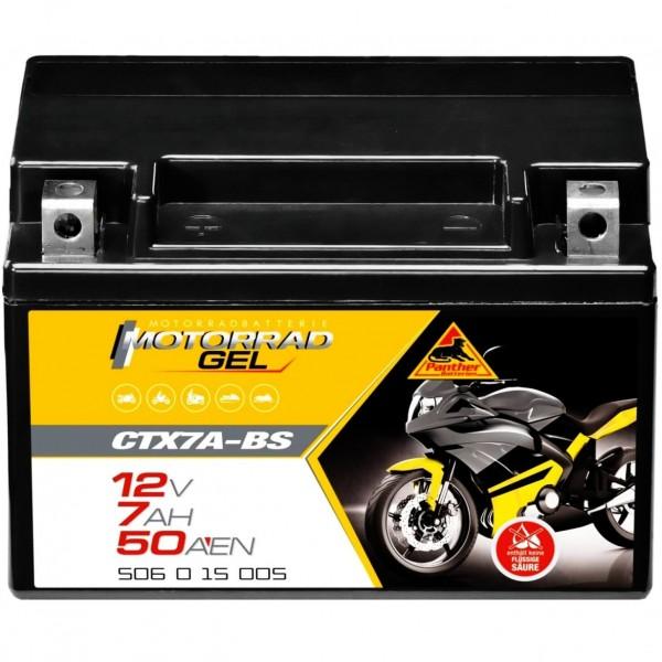 Panther CTX7A-BS Motorrad GEL 12V 7Ah 50615