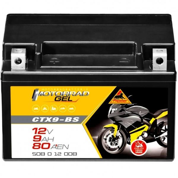 Panther YTX9-BS Motorrad GEL 12V 8Ah CTX9-BS 50812