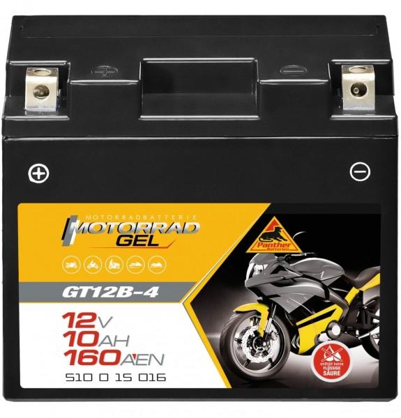 Panther GT12B-4 Motorradbatterie GEL 12V 10Ah 51015