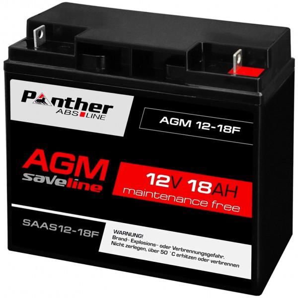 Panther akku AGM 12V 18Ah Batterie ers 20Ah