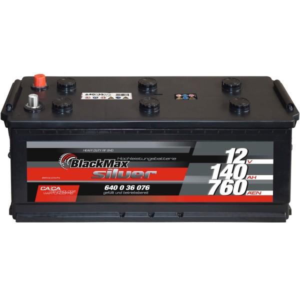 BlackMax Truck-Power 12V 140Ah LKW-Batterie