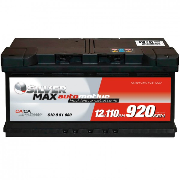 Autobatterie 12V 110Ah 920A SilverMax 61051