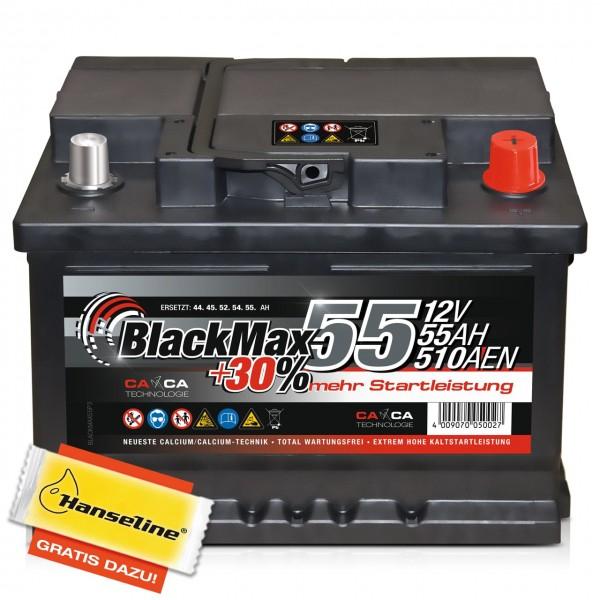 BlackMax +30% Edition 12V 55Ah 510A inkl. POLFETT