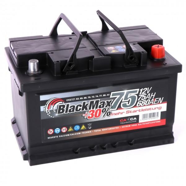 BlackMax +30 Edition Starterbatterie 12V 75Ah 680A