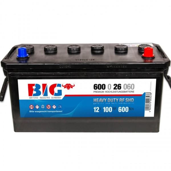 BIG NFZ 12V 100Ah 600A DIN 60026