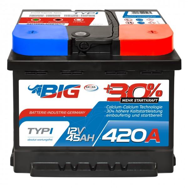 BIG Silver Edition +30% 12V 45Ah 420A/EN