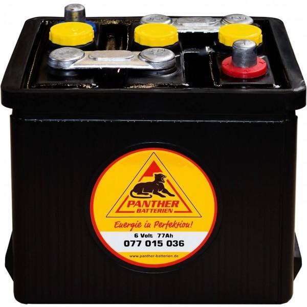 Panther Oldtimer 6V 77Ah 360A Starterbatterie